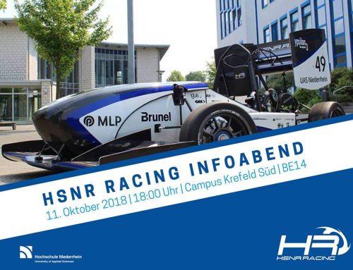 Be Part of it!: Komm zum HSNR Racing Infoabend